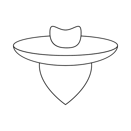 gaucho: Argentine gaucho icon in outline style isolated on white background
