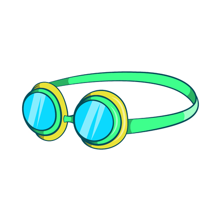 diver: Goggles icon in cartoon style isolated on white background. Swimming symbol