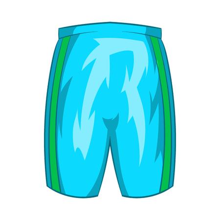 slip homme: Sport short icône dans le style de dessin animé isolé sur fond blanc. symbole de l'habillement