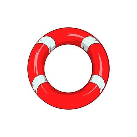 lifeline: Lifeline icon in cartoon style isolated on white background. Salvation symbol