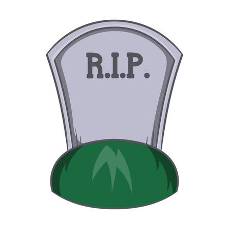 Grave icona di strappo in stile cartoon isolato su sfondo bianco. simbolo di morte Vettoriali