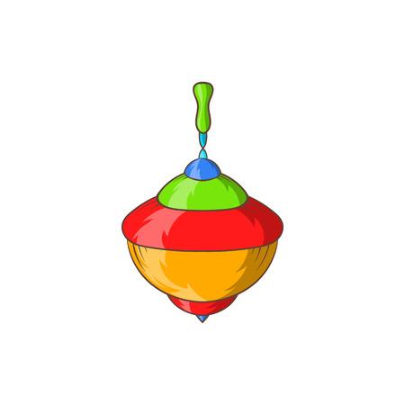 perinola: icono de perinola en el estilo de dibujos animados aislado en el fondo blanco. Juegos y juguetes s�mbolo