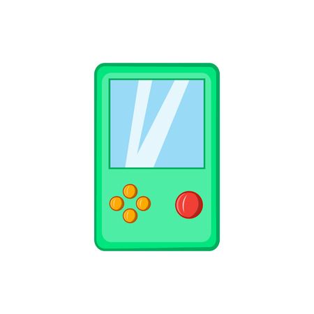 tetris: Tetris icon in cartoon style isolated on white background. Games and toys symbol