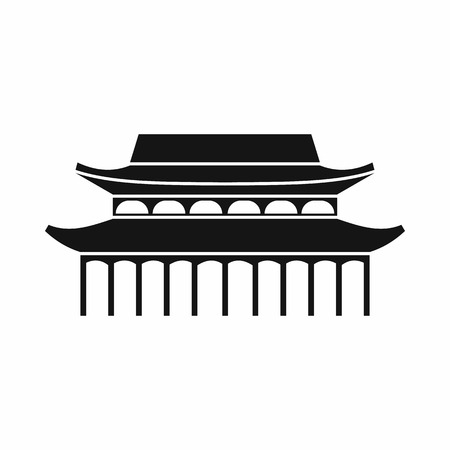 Buddha Toothe Relic Temple in Singapore icon in simple style isolated on white background Illustration