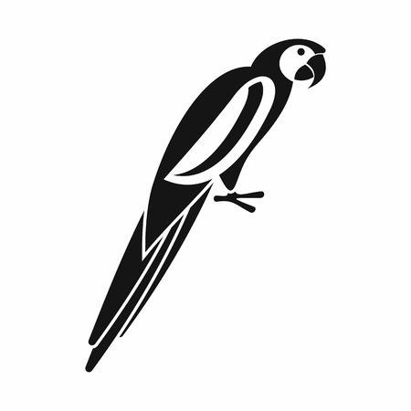 aviary: Parrot icon in simple style isolated on white background