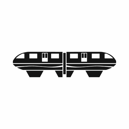 monorail: Monorail train icon in simple style isolated on white background Illustration
