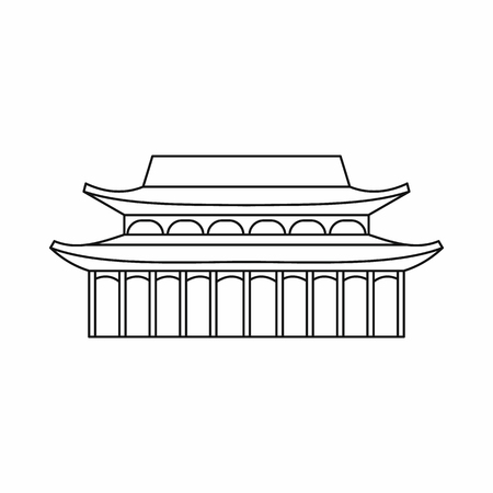 toothe: Buddha Toothe Relic Temple in Singapore icon in outline style isolated on white background