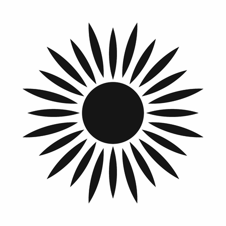 Sun icon in simple style isolated on white background 矢量图像
