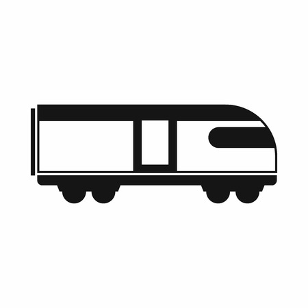 swiss alps: Swiss mountain train icon in simple style isolated on white background