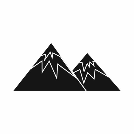 swiss alps: Swiss alps icon in simple style isolated on white background