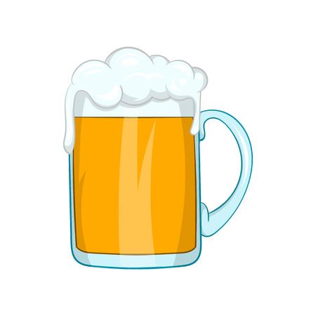 Mug of beer icon in cartoon style on a white background Vektorové ilustrace