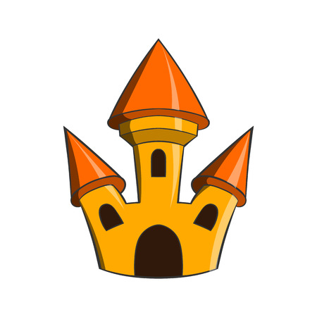 popular tale: Castle icon in cartoon style on a white background