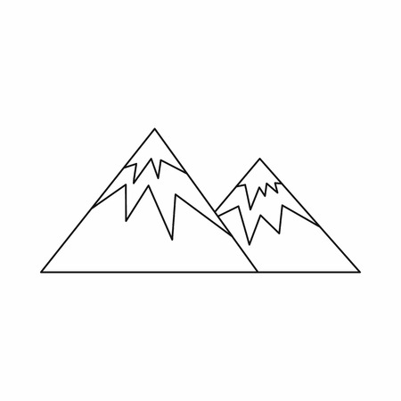 swiss alps: Swiss alps icon in outline style isolated on white background