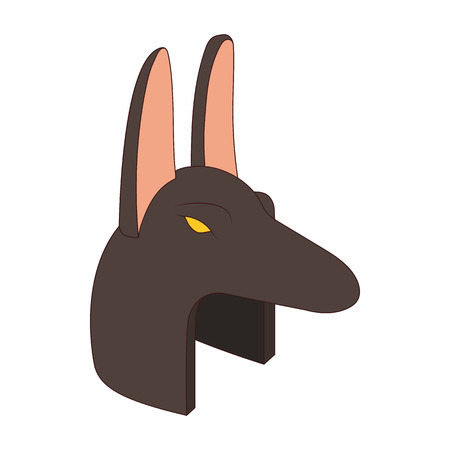 anubis: Anubis head icon in cartoon style on a white background