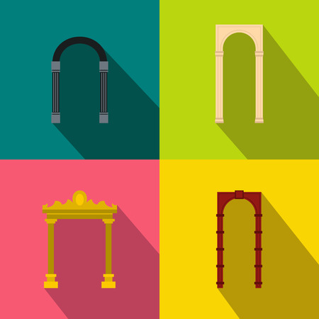 viaduct: Arch banner set in flat style for any design