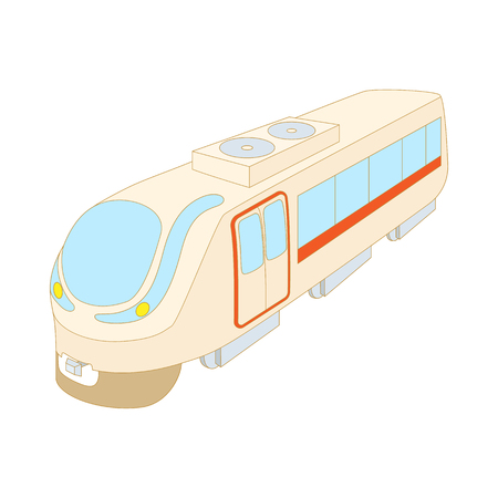 the high speed train: Modern high speed train icon in cartoon style on a white background
