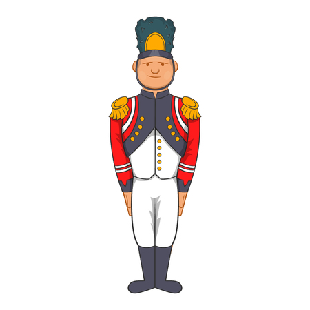 19th century style: French Army soldier in uniform icon in cartoon style on a white background Illustration