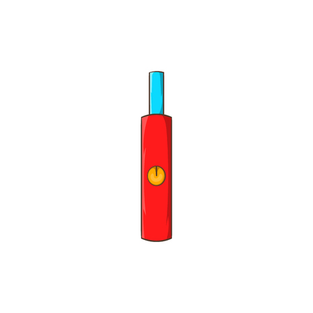 e cig: Electronic cigarette icon in cartoon style on a white background