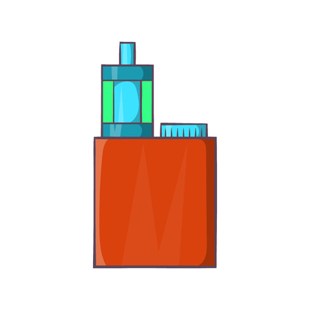 vaporizer: Vaporizer device icon in cartoon style on a white background Illustration