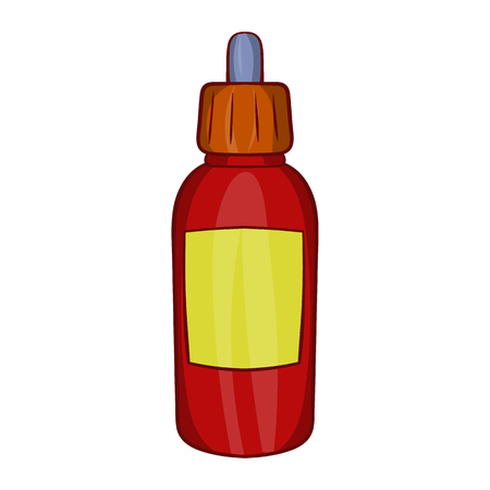 flavor: Refill bottle with pipette icon in cartoon style on a white background