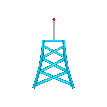 wireless connection: Wireless connection tower icon in cartoon style on a white background Illustration