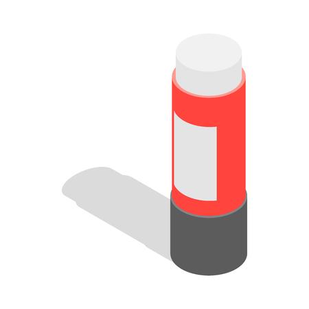 Briefpapier lijm icoon in isometrische 3D-stijl op een witte achtergrond. Schoolbenodigdheden symbool