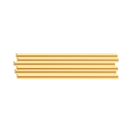felling: Wooden boards icon in cartoon style isolated on white background. Felling symbol Illustration