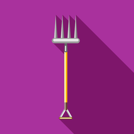 pitchfork: Pitchfork icon in flat style on a fuchsia background