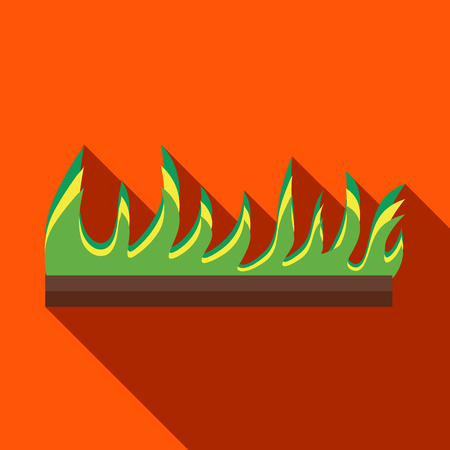 germinate: Young sprout seedlings icon in flat style on a orange background