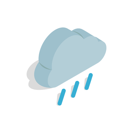 heavy rain: Heavy rain icon in isometric 3d style on a white background