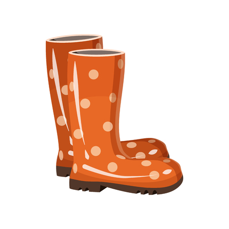 cartoon: Stylish rubber boots icon in cartoon style isolated on white background. Gardening symbol