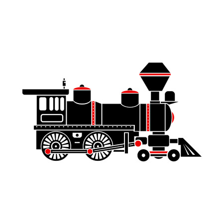 the locomotive isolated: Locomotive icon in simple style isolated on white background