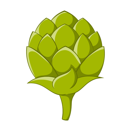 hops: Seeds hops icon in cartoon style isolated on white background. Plants symbol