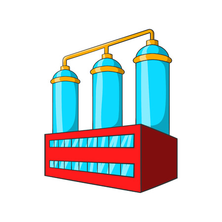 bottling: Wort preparation icon in cartoon style isolated on white background. Production of alcohol symbol