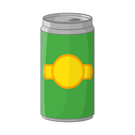 alcoholic beverage: Aluminum cans for beer icon in cartoon style isolated on white background. Alcoholic beverage symbol Illustration