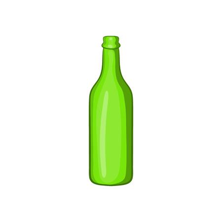 alcoholic beverage: Beer bottle icon in cartoon style isolated on white background. Alcoholic beverage symbol Illustration