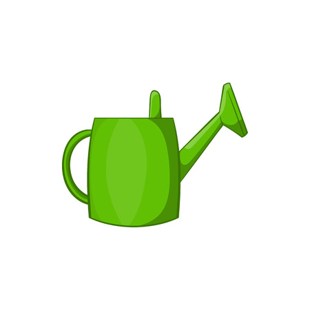 bailer: Watering can for garden icon in cartoon style isolated on white background. Gardening symbol