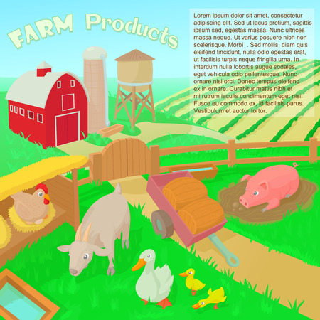 seedlings: Farm products concept in cartoon style vector illustration
