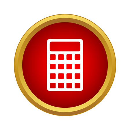 Calculator icon in simple style on a white background Illustration