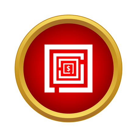Labyrinth icon in simple style on a white background Иллюстрация