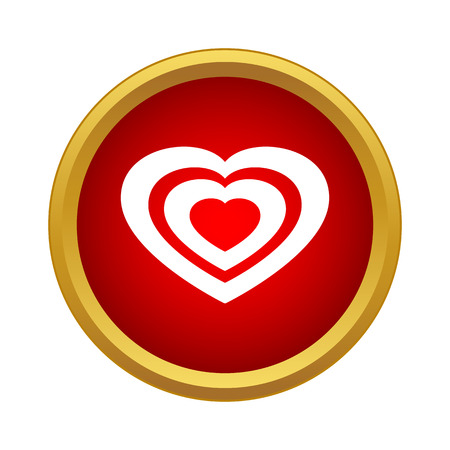 Heart icon in simple style on a white background 版權商用圖片 - 105610633