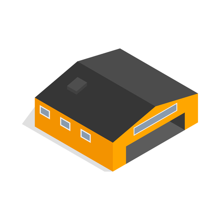 Hangar icon in isometric 3d style isolated vector illustration Illustration
