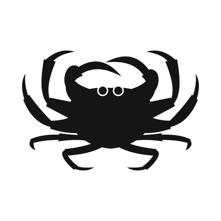 Crab icon in simple style isolated vector illustration. Marine animal symbol