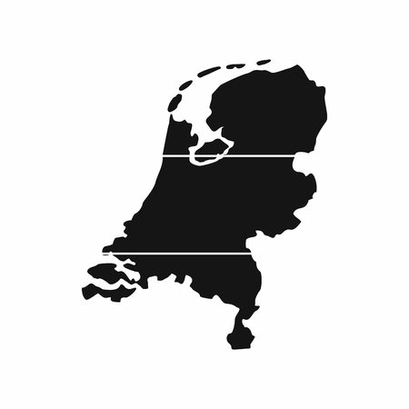 Holland map icon in simple style isolated vector illustration. State symbol