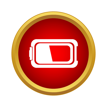 Battery icon in simple style on a white background Иллюстрация