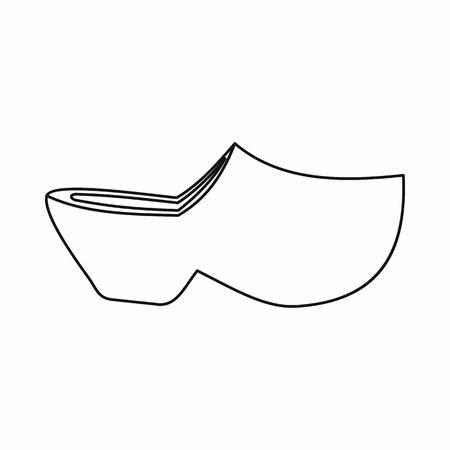 Klompen pictogram in cartoon stijl geïsoleerde vectorillustratie. Schoenen symbool