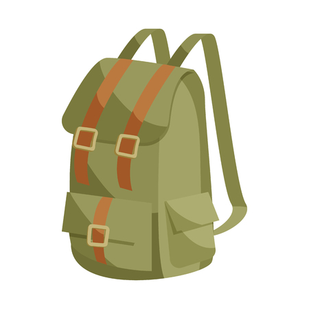 Backpack icon in cartoon style isolated on white background. Bag symbol