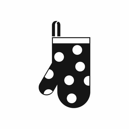 Kitchen glove icon in simple style isolated vector illustration 일러스트