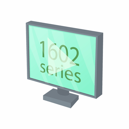 View series on TV icon in cartoon style isolated on white background. Cinema symbol 일러스트