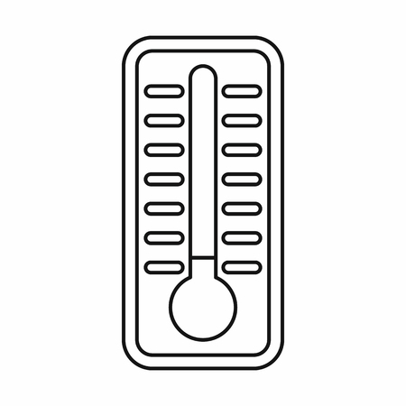 Cold thermometer icon in outline style isolated vector illustration